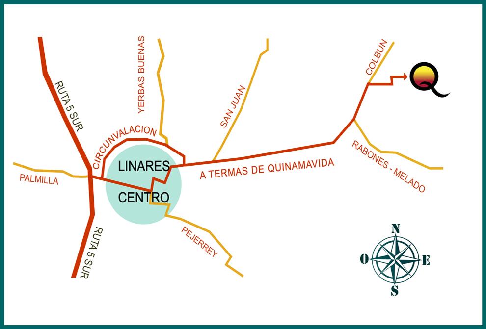 Como llegar a Termas de Quinamavida